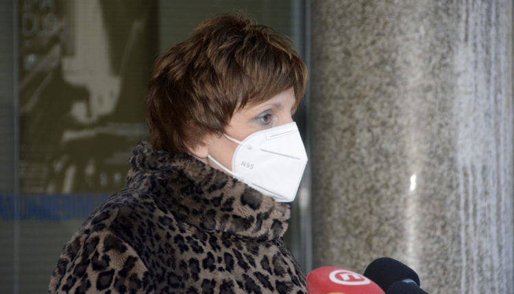 Sonja Tošić Grlač, pročelnica, konferencija za medije Stožera civilne zaštite MŽ 14.1.2021.