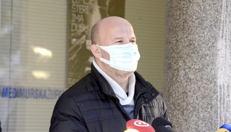 Tomislav Novinščak, ravnatelj Županijske bolnice Čakovec, konferencija za medije Stožera civilne zaštite MŽ 14.1.2021.
