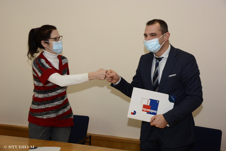 Potpisivanje ugovora s udrugom Prijatelji životinja, Međimurska županija, 25.1.2021.